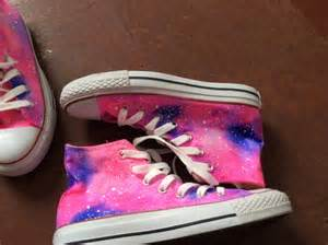 Galaxy Converse High Top Shoes