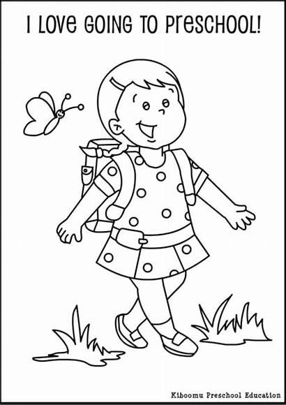 Coloring Preschool Pages Kindergarten Worksheets Preschoolers Activities