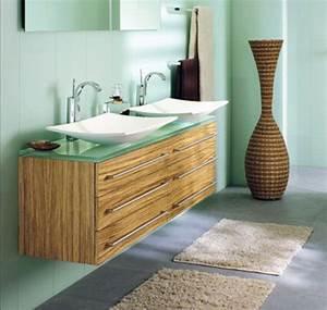 Carrelage Vert D Eau : salle de bain vert d 39 eau et bois ~ Melissatoandfro.com Idées de Décoration
