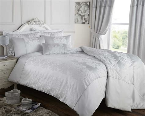 King Size Bed Duvet Covers by Silver Grey Duvet Quilt Cover Jacquard Bedding Bed Set