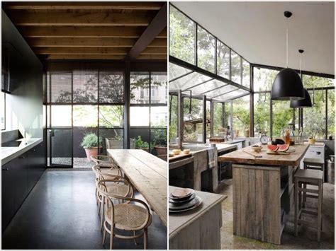 cuisine bois nature et d馗ouverte tendance déco la cuisine verrière clem around the corner