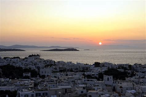 mykonos greece sunset beach