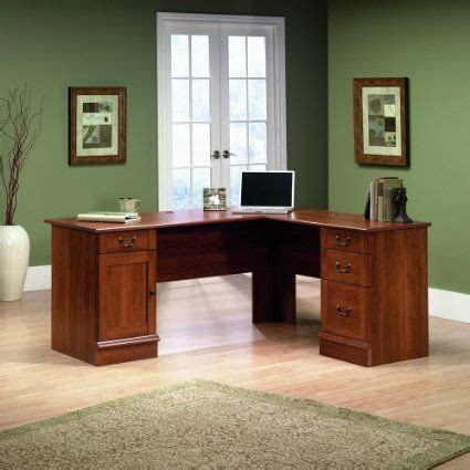 amazoncom sauder traditional  shaped desk  home