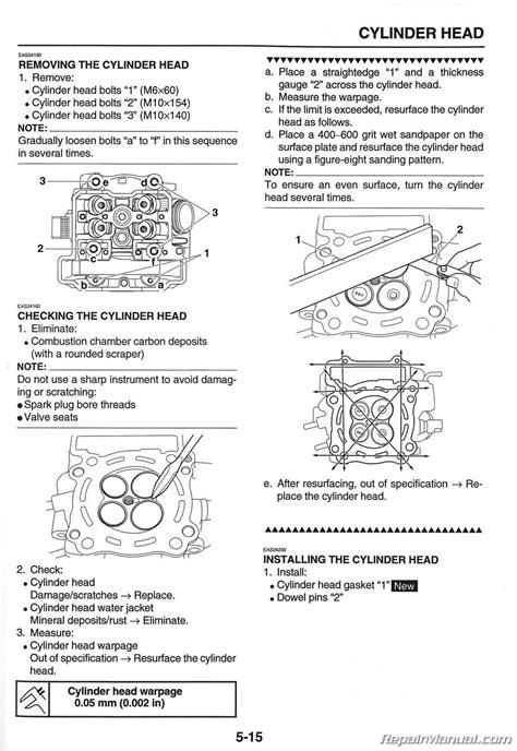 2008 2015 yamaha wr250r service manual used
