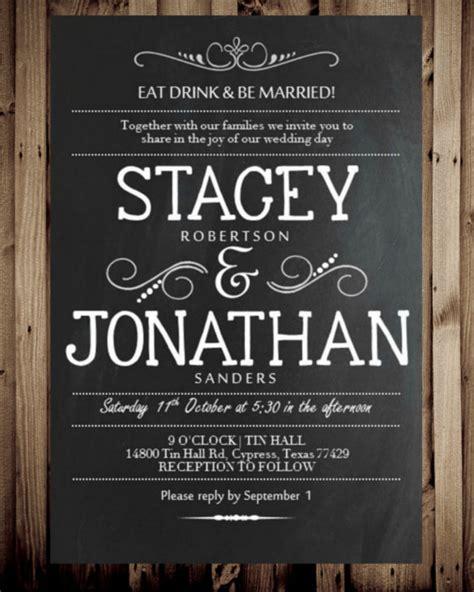 26+ Chalkboard Wedding Invitation Templates Free Sample