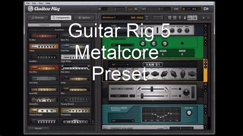 Guitar Presets by New Guitar Rig 5 Metalcore Tone Preset
