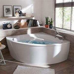 Baignoire Angle Douche : baignoire d 39 angle 140 x 140 cm form oxygen castorama baignoires et angles ~ Voncanada.com Idées de Décoration