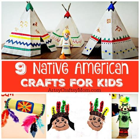 9 american crafts for artsy craftsy 673 | Native american Crafts for Kids
