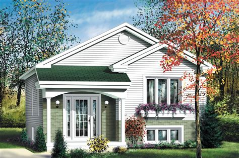 Economical Split Level Home Plan