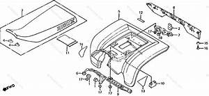 Honda Atv 1986 Oem Parts Diagram For Seat    Rear Fender