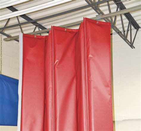 Barrier Drapes - retractable industrial acoustical curtains acoustic