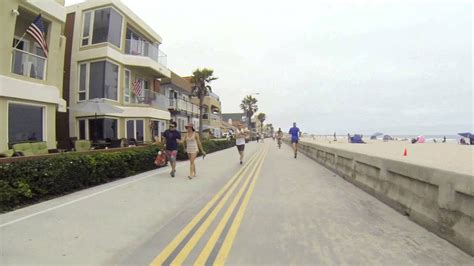 Biking Mission Beach Boardwalk July Gopro