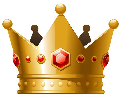 gold crown  red diamonds png clipart crown png
