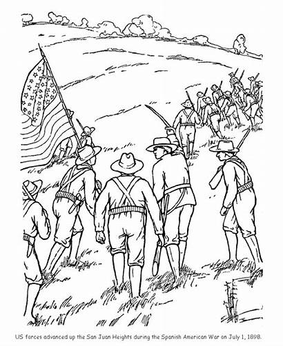 Coloring Pages Veterans Remembrance Hill Rough Sheets