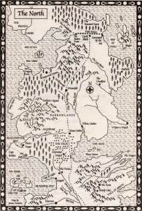 Game of Thrones Westeros North Map