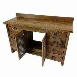 Rustic, Wood, Bathroom, Vanity