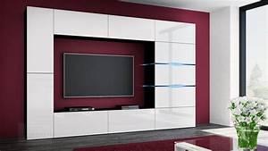 Tv Wand Weiß Hochglanz : kaufexpert wohnwand shadow wei hochglanz schwarz 285 cm mediawand anbauwand medienwand design ~ Indierocktalk.com Haus und Dekorationen
