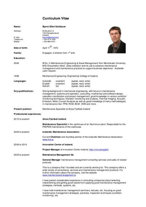 Cv Resume by Curriculum Vitae Bei Cv
