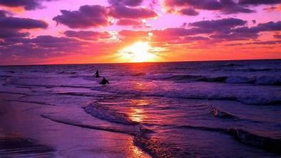 Sunset Beach Wallpapers Wallpaperplay Desktop Ocean Sunsets