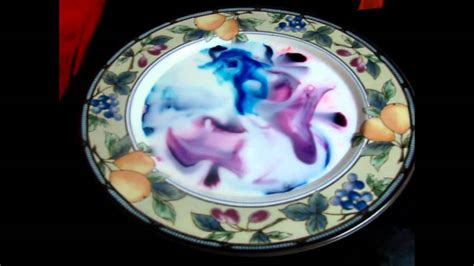 milk food coloring  dish soap experiment