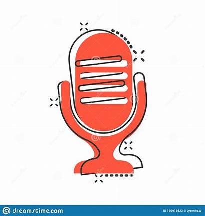 Microphone Cartoon Mic Broadcast Pictogram Comic Icon