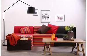canape design modulable 4 places assortiment ethnique With tapis ethnique avec housse de canapé d angle 5 places