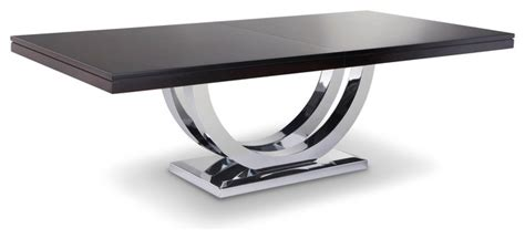 Metro Chrome Base Dining Table   Modern   Dining Tables   Other   by Woodcraft Furniture