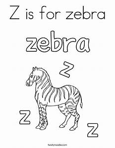 Z is for zebra Coloring Page - Twisty Noodle