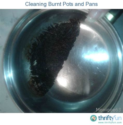 cleaning burnt pots  pans thriftyfun