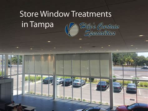 store window treatments  tampa hiles curtains specialties
