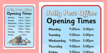 jolly post office role play opening times