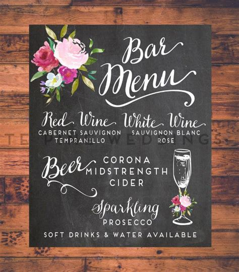 bar menu templates psd eps docs pages