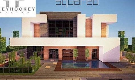 squared modern home minecraft house design house plans