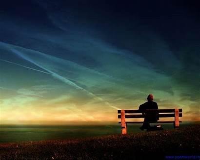 Sad Thinking Alone Wallpapers Poem