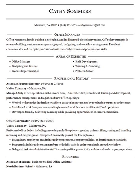 Office Coordinator Resume by Office Coordinator Resume Exle Practice Director