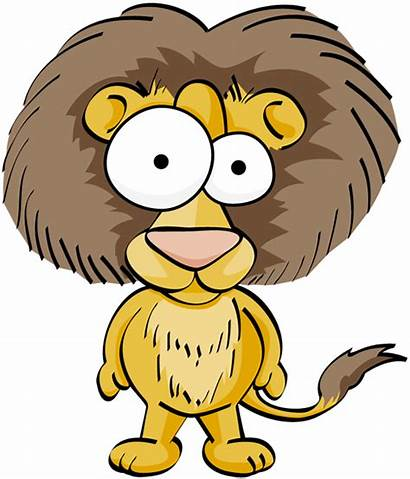Lion Silly Clipart Funny Cartoon Transparent Clip