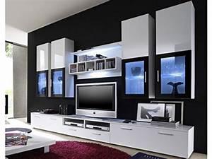 Wohnzimmer Vitrine Weiß : moderne wohnwand vitrine anbauwand wohnzimmer m bel wei wohnwand ~ Markanthonyermac.com Haus und Dekorationen