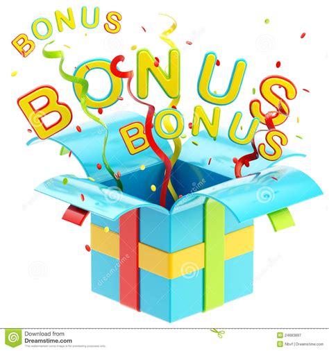 Word Bonus Inside A Gift Box Stock Illustration
