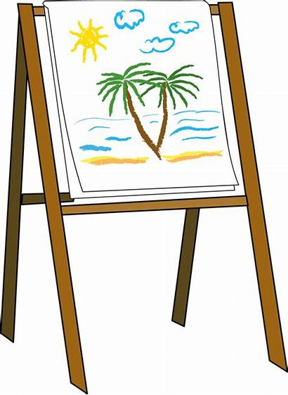 Easel Clipart Clip Canvas Drawing Painting Paint