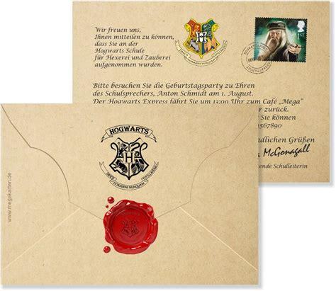 harry potter einladung einladungskarten geburtstag geburtstagskarten kinder harry potter mit druck ebay