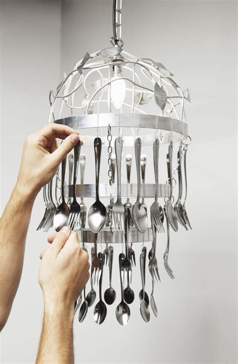 kitchen cutlery chandelier 183 how to make a recycled light