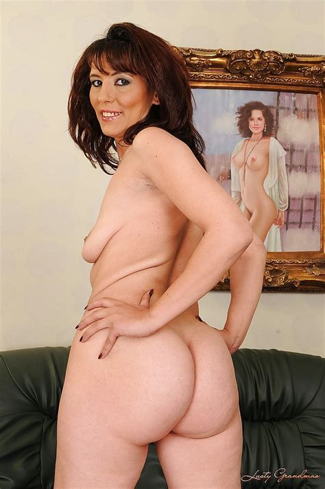 Mature Brunette Gina Red Stripping And Exposing Her Shaggy
