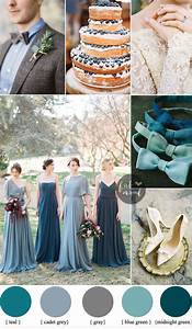 Different shades of blue green Wedding { Midnight Green ...
