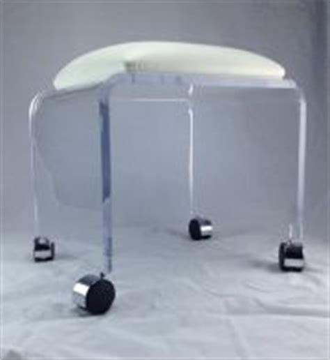 acrylic vanity chair with wheels pufek77 products for you