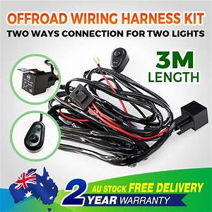 Led Offroad 3m Wiring Loom Harness Relay Fuse Switch Kit
