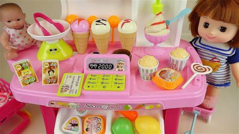 baby doli  food shop ice cream toys baby doll play