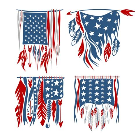 Millions of free graphic resources. USA American Feather Flag Cuttable Design