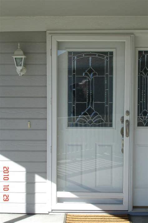 Aluminum Storm Door (kingone Lite) From Columbia Glass. Bypass Sliding Barn Door Hardware. Electric Door Strike. Sliding Door Brackets. Garage Door Cable Pulley. Double Garage Doors. Garage Construction Loans. Phoenix Shower Door. Frosted Shower Doors