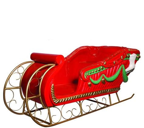giant santas sleigh decor prop commercial christmas supply