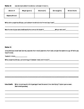 Mineral Identification Lab Worksheet  Mystery Minerals By Mr Buck